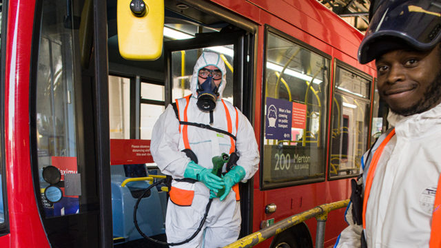 Covid-19 Cleaning and Decontamination - SafeGroup-©Guardian-Sean Smith